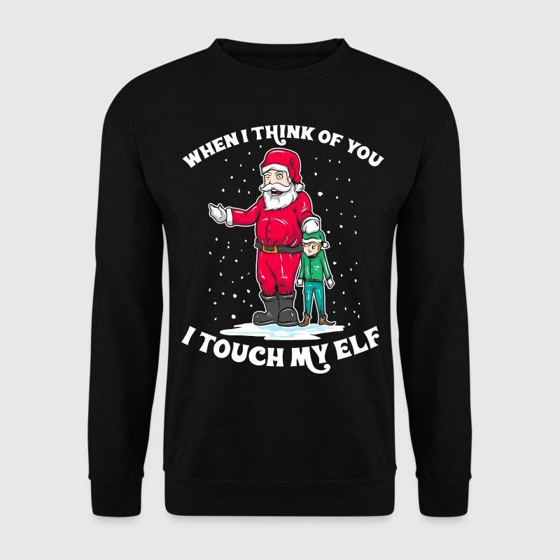 Santa I Touch My Elf Weihnachten Humor Geschenk von | Spreadshirt