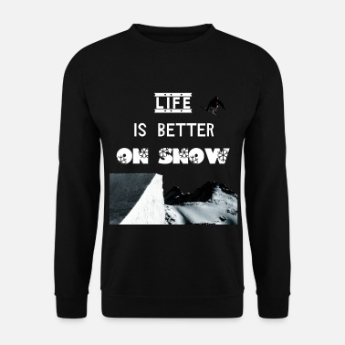 Snowboarding. Jump over kicker. - Men's Sweatshirt