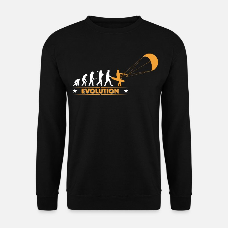 Kitesurf Sweat-shirts - Kitesurf - evolution - Sweat-shirt Homme noir