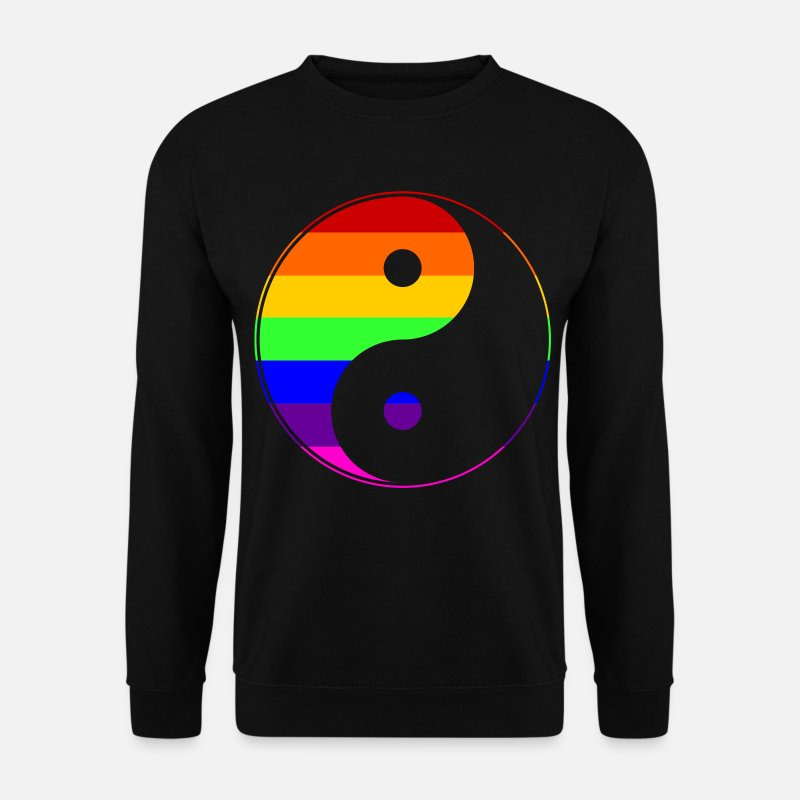 Gay Pride Hoodies & Sweatshirts - Gay Pride - Yin Yang - EN - Men's Sweatshirt black