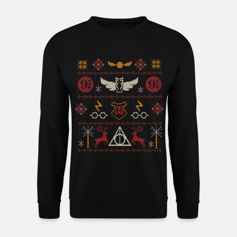 Harry Pullover & Hoodies - Harry Potter Ugly Christmas Sweater Design - Männer Pullover Schwarz
