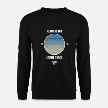 South Beach Miami Beach South Beach Florida Beach Estados Unidos - Sudadera hombre