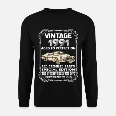 1991 VINTAGE 1991-AGED TO PERFECTION - Men's Sweatshirt
