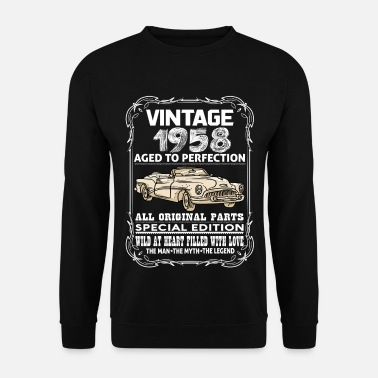 1958 VINTAGE 1958-AGED TO PERFECTION - Men's Sweatshirt
