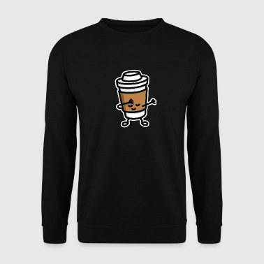 Dab / dabbing cardboard coffee cup - Sweat-shirt Homme