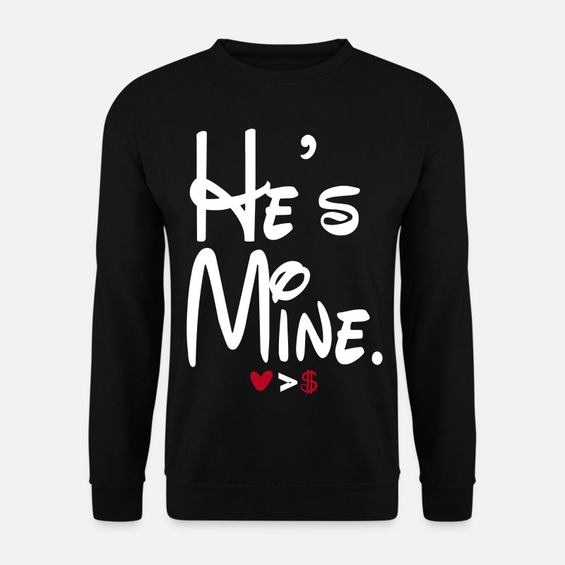 Couples Hoodies & Sweatshirts - hes_mine - Men's Sweatshirt black