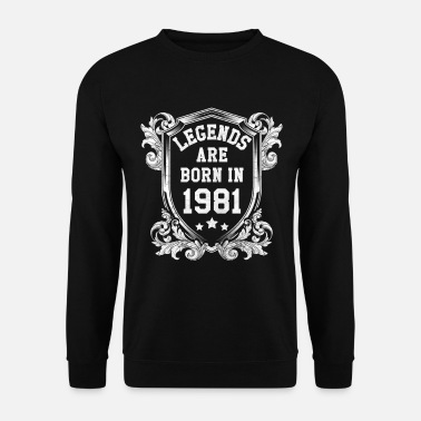 Since Legends are born in 1981 - Männer Pullover