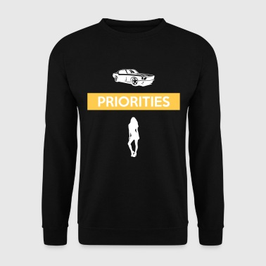 PRIORITIES car woman - Männer Pullover