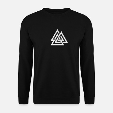 Mythology Valknut, Wotan's Knot, Walknot, Odin, Valhalla - Men's Sweatshirt