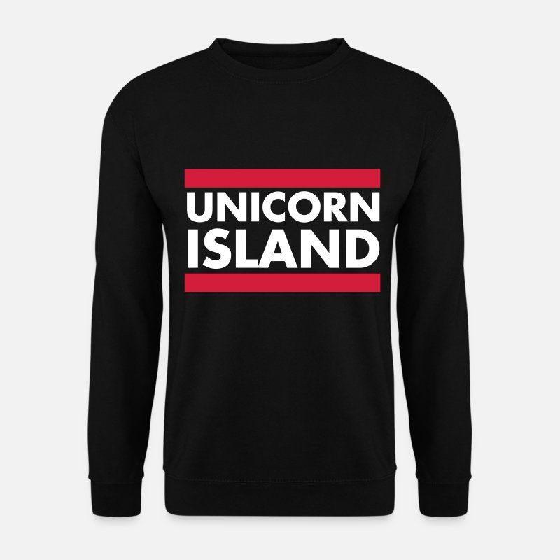 Licorne Sweat-shirts - Unicorn Island - Sweat-shirt Homme noir