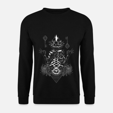Occult White illumination - Men's Sweatshirt