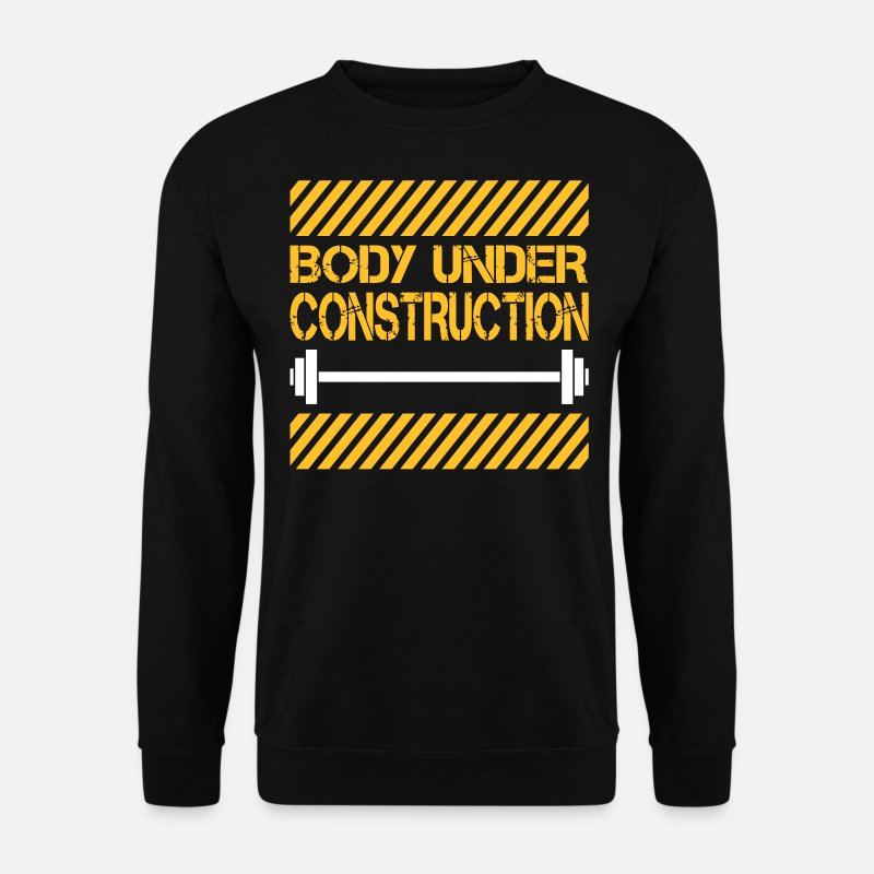 Gym Hoodies & Sweatshirts - Body under construction - Men's Sweatshirt black