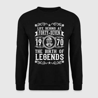 1970 - 47 years - Legends - 2017 - Sweat-shirt Homme