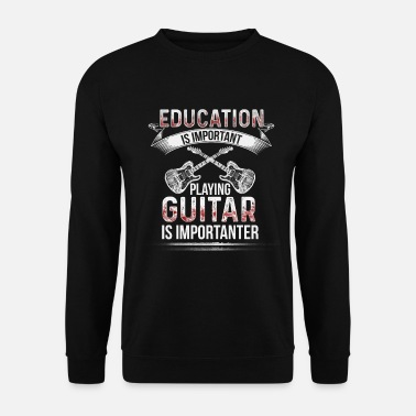 Hardrock Guitar is Importante Electric Guitarist Guitarist Bassist - Sweat-shirt Homme