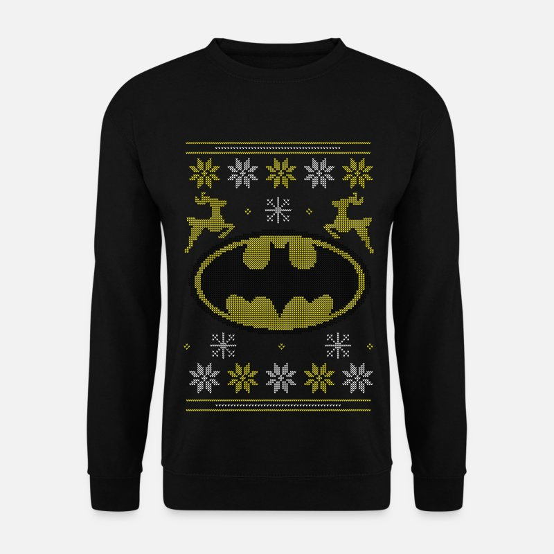 Christmas Pullover & Hoodies - Justice League Batman Logo Ugly Christmas - Männer Pullover Schwarz