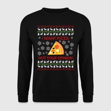 I Want Pizza, Ugly Christmas Sweater Gift - Männer Pullover