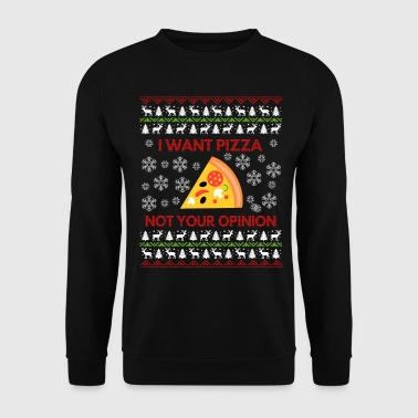 I Want Pizza, Ugly Christmas Sweater Gift - Men's Sweatshirt