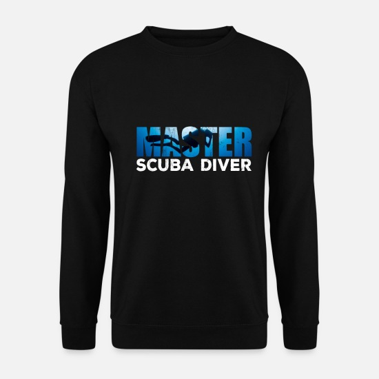 Diving Hoodies & Sweatshirts - Master Scuba Diver Tshirt for Dive Addicts - Men's Sweatshirt black