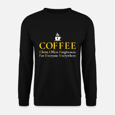 Jezus Christian Coffee T Shirt: Jesus Christ Offers - Bluza bez kaptura męska