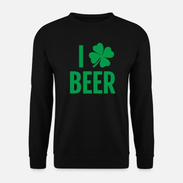 Funny St. Patricks Day Irish Beer Shamrock Gift I - Mannen sweater