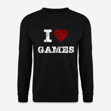 Counter Strike i love games vintage light - Men's Sweatshirt