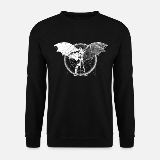 Batman Sweaters & hoodies - Batman Dark white - Mannen sweater zwart