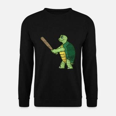 Tortue Marine Cadeau de baseball tortue - Sweat-shirt Homme