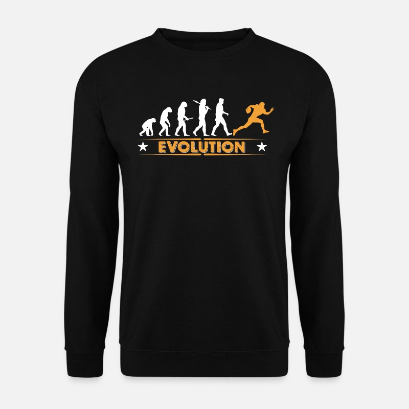 Football Hoodies & Sweatshirts - American Football - Evolution orange/weiss - Men's Sweatshirt black