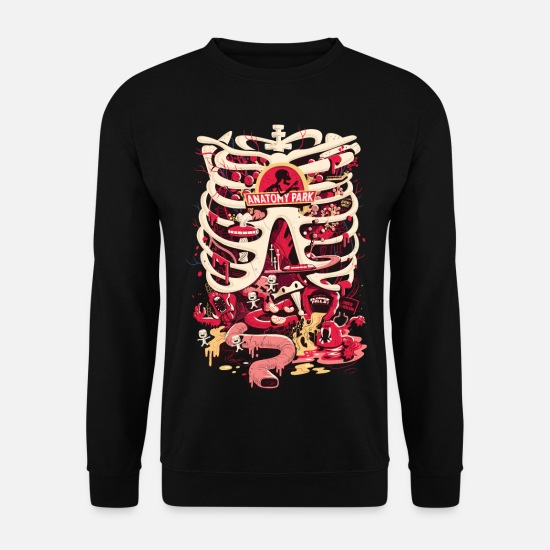 Officialbrands Hoodies & Sweatshirts - Rick And Morty Anatomy Park Skeleton - Men's Sweatshirt black