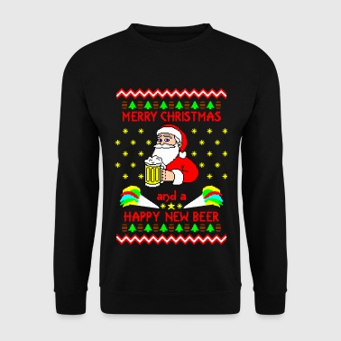 Merry Xmas Happy new Beer Ugly Christmas Sweater - Herrtröja
