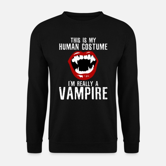 Terrifiant Sweat-shirts - Vampire halloween - Sweat-shirt Homme noir