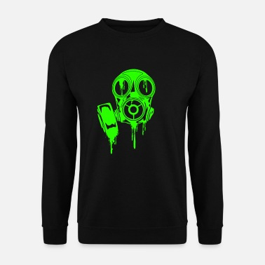 Scary Gas Mask Mask Neon Horror Mask Scary T-Shirt - Men's Sweatshirt