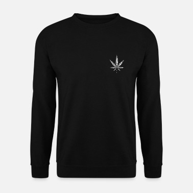 Feuille De Cannabis Feuille de chanvre - blanc - Sweat-shirt Homme