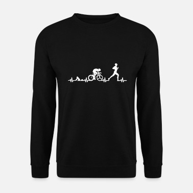 Triathlon Coeur de triathlon - Sweat-shirt Homme