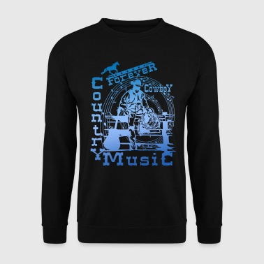 Country Music forever cowboy country music - Men's Sweatshirt