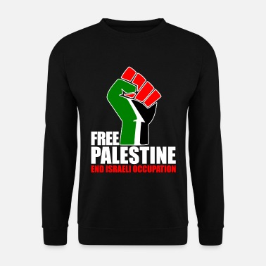 Arabic Free Palestine end Israeli Occupation - Men's Sweatshirt