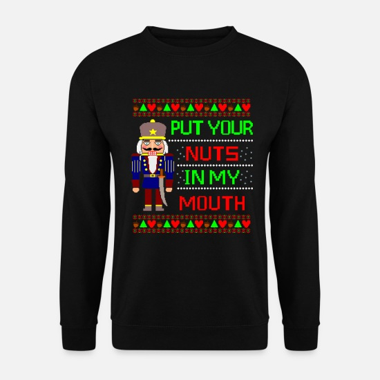 Ugly Hoodies & Sweatshirts - The Nutcracker Ugly Christmas Sweater - Men's Sweatshirt black