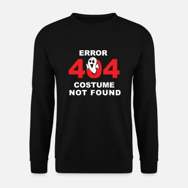 Fejl 404 Costume Not Found Halloween Party Shirt - Herre sweater