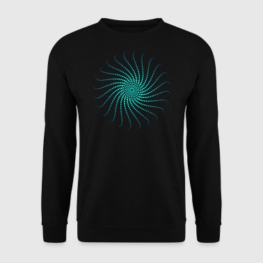 Energy vortex circle swirl music psychedelic goa - Men's Sweatshirt