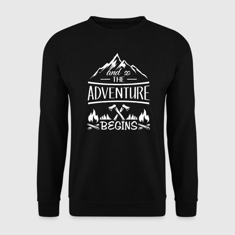 And so the Adventure begings - camping scout gift  - Sweat-shirt Homme