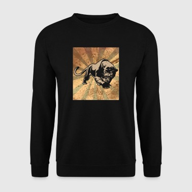 Retro Panther - silhouette classic vintage - Mannen sweater