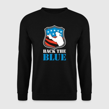 Back the Blue - Brave USA Police Officer - Herre sweater