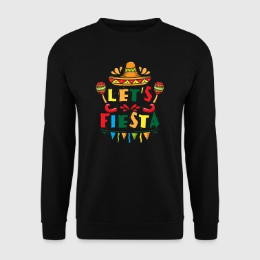 Let's Fiesta - sombrero mexican spanish holiday - Genser for menn