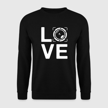 LOVE - photography paparazzi photo editor - Sudadera hombre