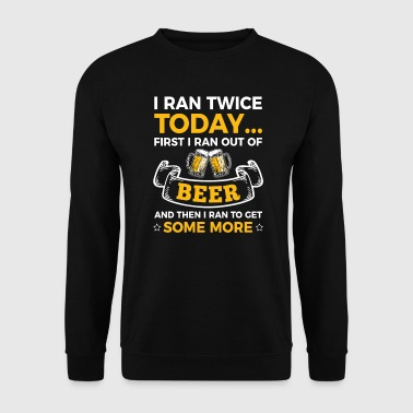 Ran twice a Day for Beer - Männer Pullover