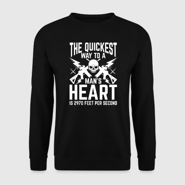 The quickest way to a man's Heart - Männer Pullover