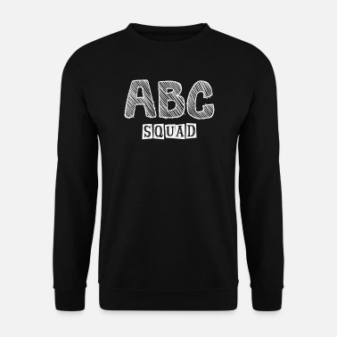 School Beginner abc squad I alphabet for school beginners - Men's Sweatshirt