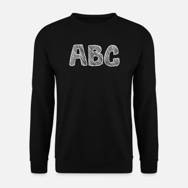 School Beginner abc learn alphabet as a school beginner - Men's Sweatshirt