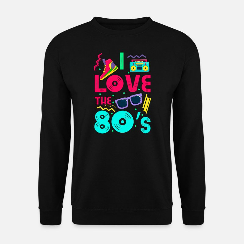 80s Sudaderas - I love the 80s - cool and crazy - Sudadera hombre negro