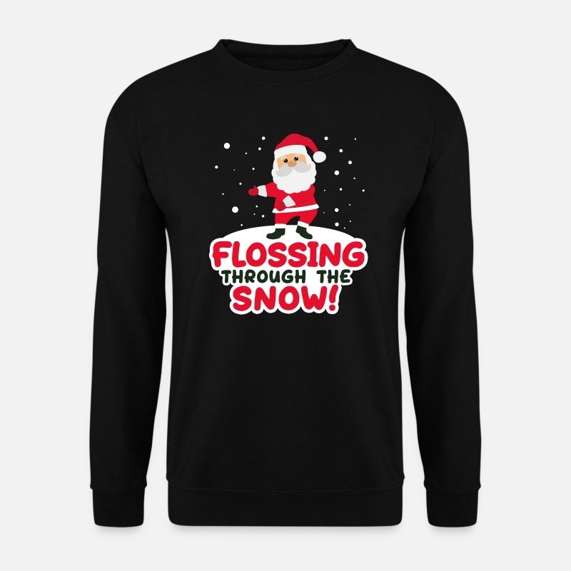 Christmas Hoodies & Sweatshirts - Flossing Through The Snow - Floss Christmas Jumper - Men's Sweatshirt black